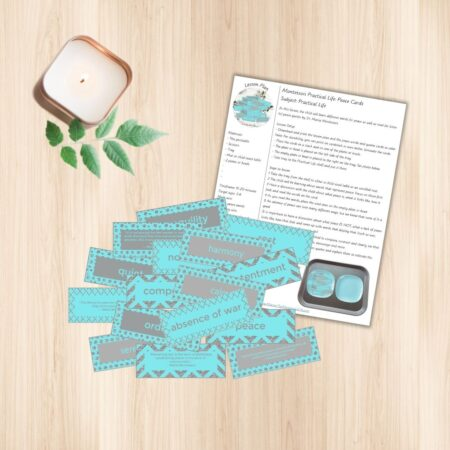 Teaching children about peace is such a consequential lesson that they might carry the rest of their lives, so make it a good one! In this set, you get 12 cards with peace words and 4 cards with Dr. Maria Montessori quotes about peace. This includes the lesson plan with step-by-step instructions.
